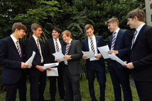 Sixth Form Boys with Certificates