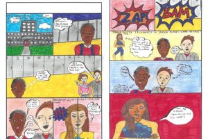Winning artwork for Show Racism the Red Card Competition