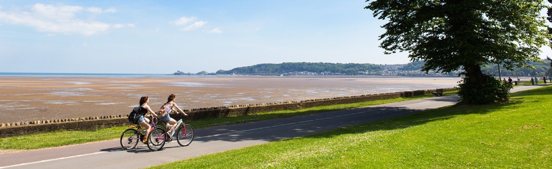 Cycling on Swansea Sea Front