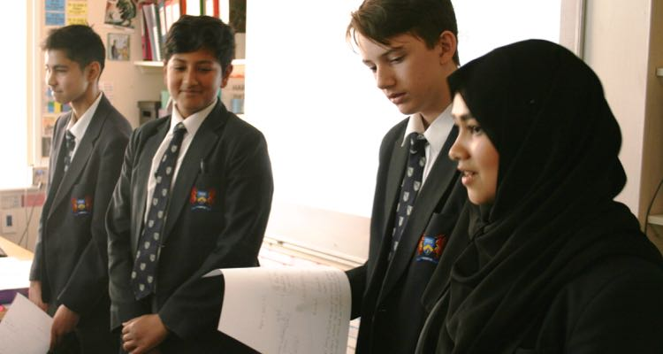 Junior debating team in training