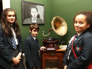 Students at Dylan Thomas' House Swansea