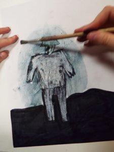 Art work inspired by the artist Josef Herman