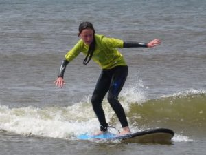 Ffynone House School learning to surf with RIPNROCK at Rhossili