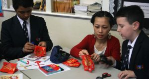 Chinese New Year activities at Ffynone House School