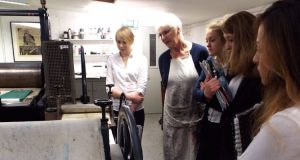 FHS A Level students visit Swansea Print Makers