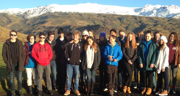 Ffynone House Students visit Iceland
