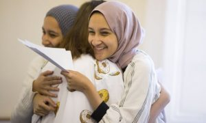 Students celebrating Exam results