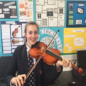 kayla with violin