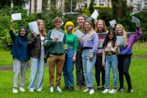Students Receive A' Level Results In England and Wales