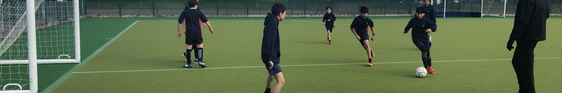 Football Practice on Astro Turf